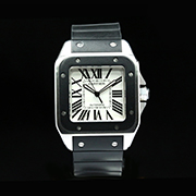 CARTIER SANTOS 100 XL RUBBER 2656 - CARTIER SANTOS 100 XL  RUBBER