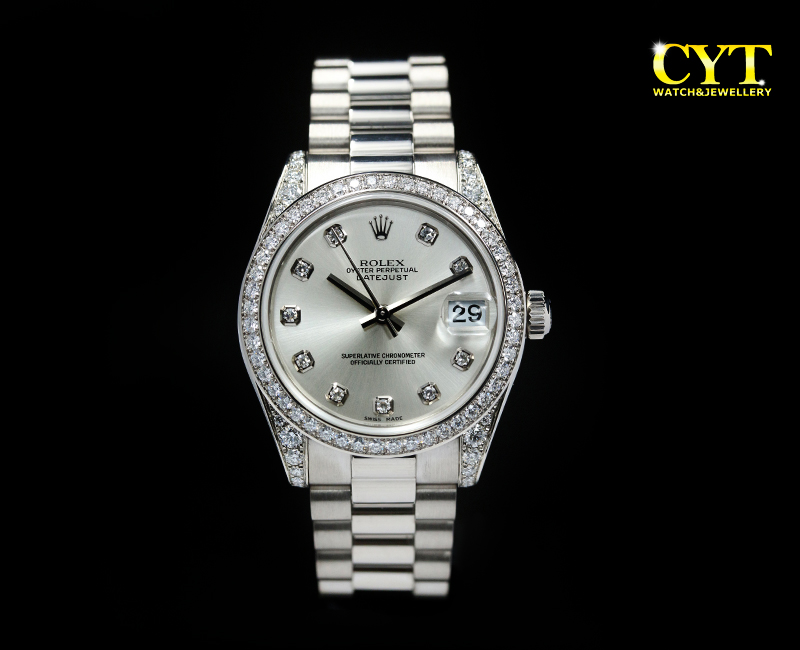 ROLEX LADY DATEJUST 31 178159 - ROLEX LADY DATEJUST 31 WHITE GOLD