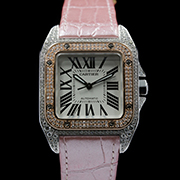 CARTIER SANTOS 100 MEDIUM - SANTOS 100 MEDIUM STEEL